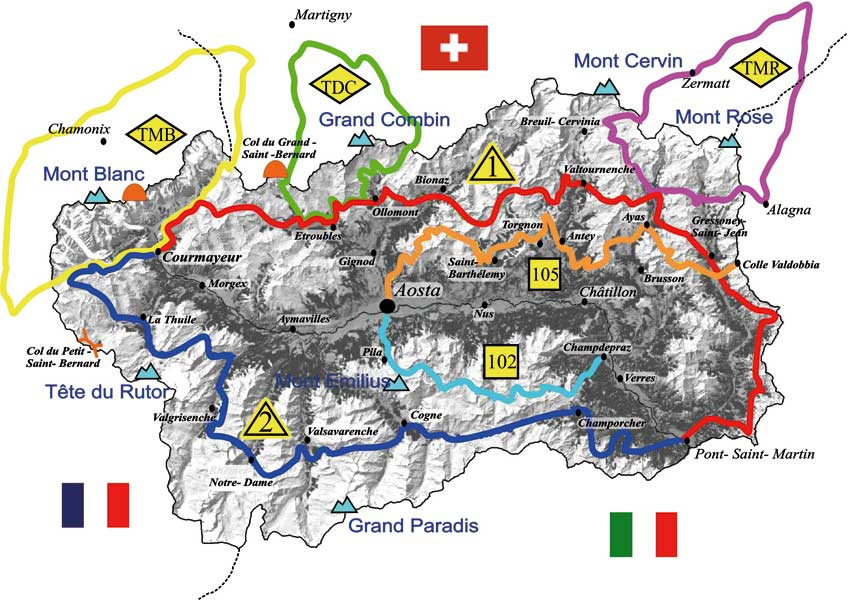 Cartina Valle D Aosta Dettagliata.Rivista Environnement