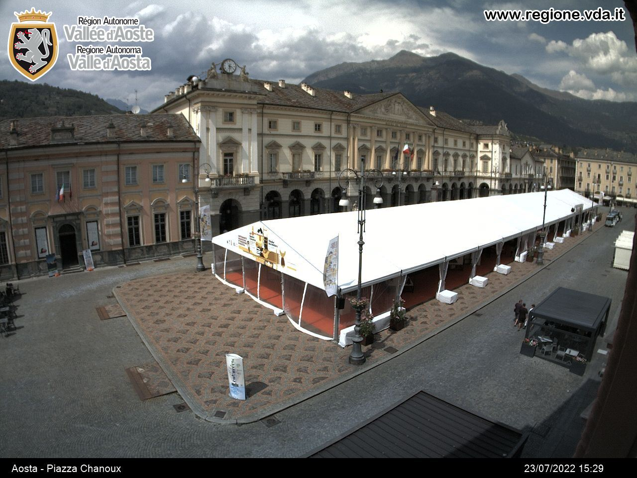 Webcam Aosta Piazza chanoux