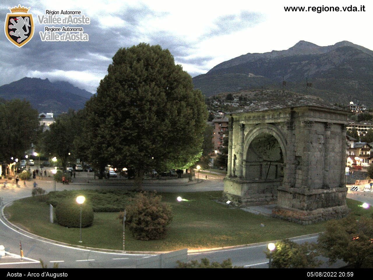 Webcam Aosta Arco d'Augusto