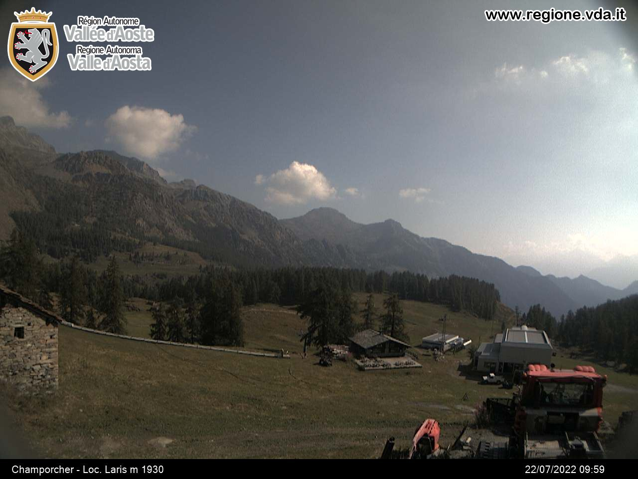 Web Cam Champorcher in Valle d'Aosta