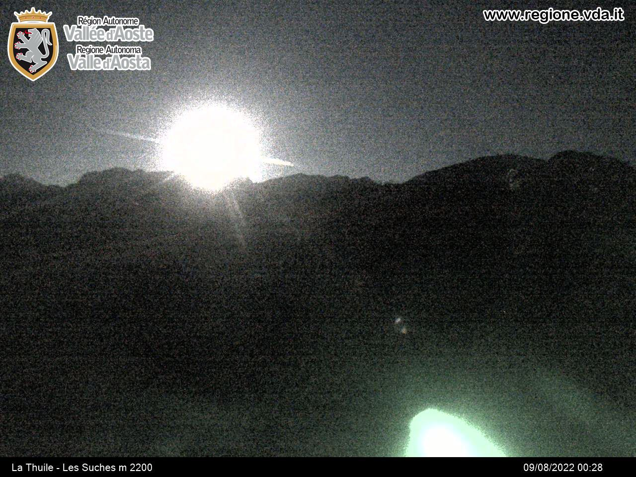 Webcam snow on the ski slopes in LA THUILE
