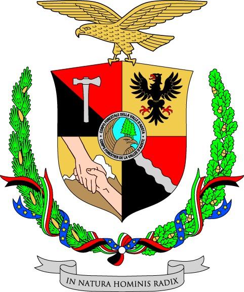 Lo stemma araldico del Corpo Forestale della Valle d'Aosta