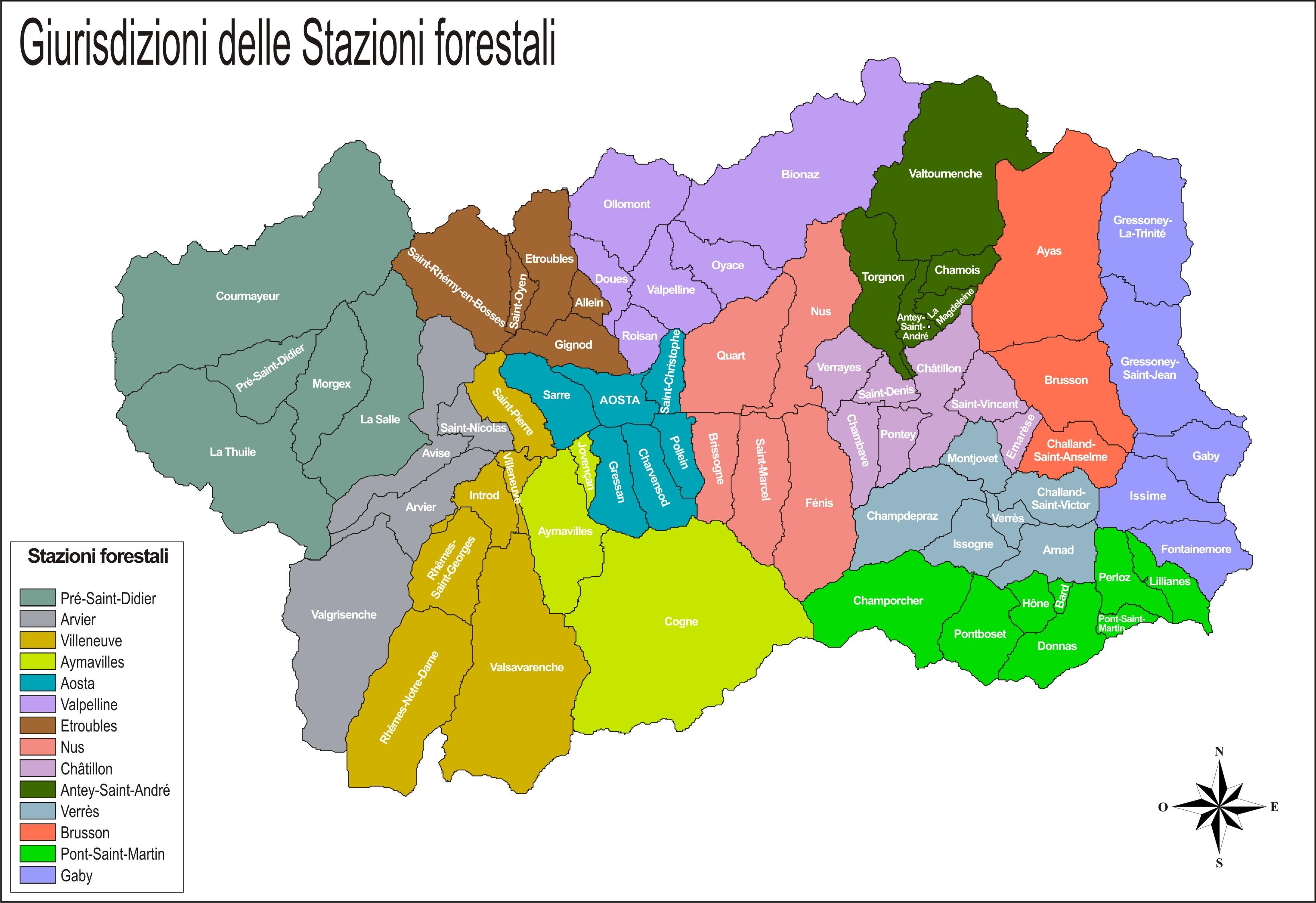 Cartina Muta Della Valle D Aosta.Cartina Comuni Valle D Aosta Deplo
